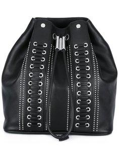 рюкзак со шнуровкой и заклепками Diesel Black Gold
