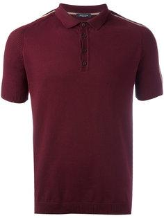 футболка-поло с полосками на рукавах Roberto Collina