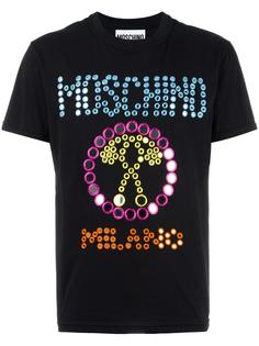 футболка с вышивкой логотипа Moschino