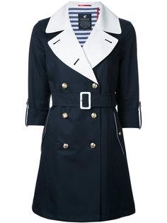 пальто с поясом и контрастными лацканами Loveless