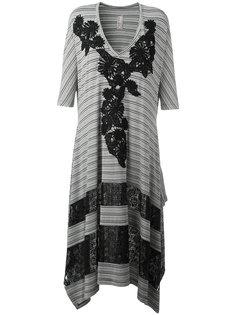 полосатое асимметричное платье  Antonio Marras