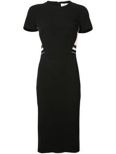 приталенное платье с полосами Victoria Beckham