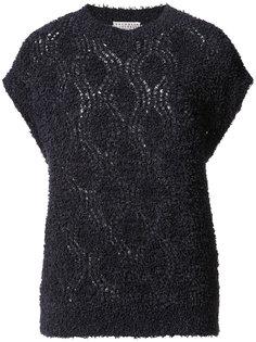 трикотажная блузка с короткими рукавами Brunello Cucinelli