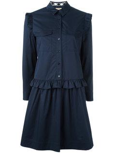 платье-рубашка с отделкой оборками Burberry