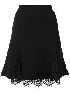 юбка А-образного силуэта с кружевом Oscar de la Renta