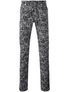 брюки с абстрактным принтом Dior Homme