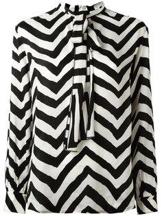 блузка с зигзагообразным узором Diesel