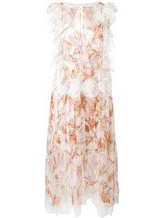 прозрачное платье с рюшами Zimmermann