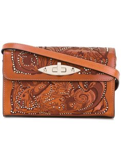 сумка на плечо с заклепками Red Valentino