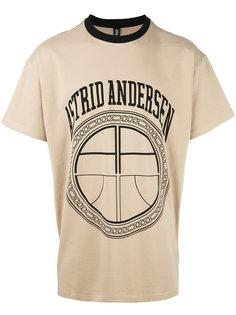 футболка с контрастной горловиной Astrid Andersen