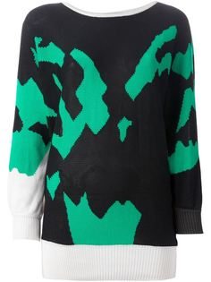 свитер с узором-интарсией Versace Vintage