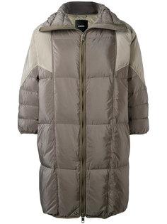 дутое пальто с рукавами три четверти Diesel