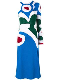 трикотажное платье с узором интарсией Esteban Cortazar