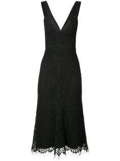 кружевное платье с V-образным вырезом Victoria Beckham