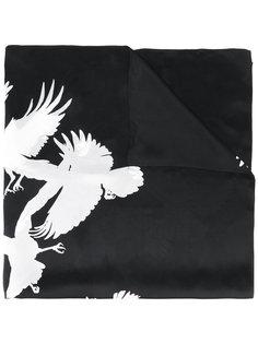 шарф с принтом птиц Ann Demeulemeester