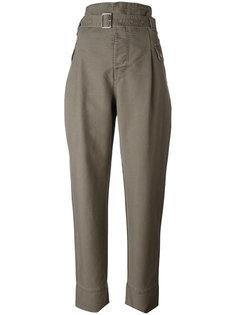 брюки с завышенной талией и поясом Diesel