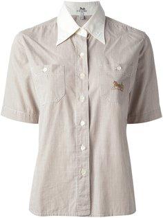 рубашка в мелкую полоску Céline Vintage