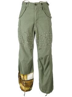 брюки с заклепками Junya Watanabe Comme Des Garçons