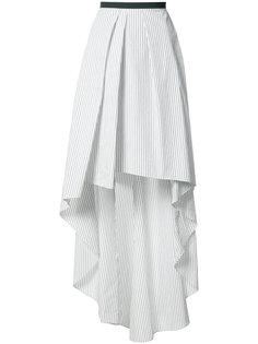асимметричная юбка в полоску Brunello Cucinelli