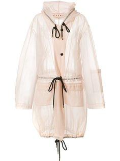 объемное прозрачное пальто Marni