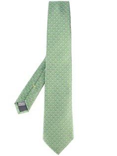 галстук с мелким принтом очков Canali