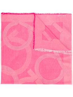 шарф с рисунком Salvatore Ferragamo