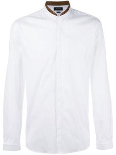 рубашка с кожаным воротником The Kooples