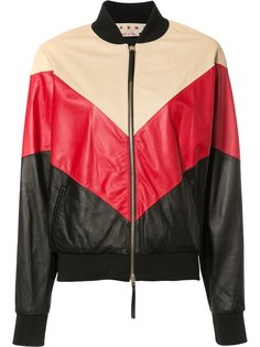 куртка бомбер дизайна колор-блок Marni