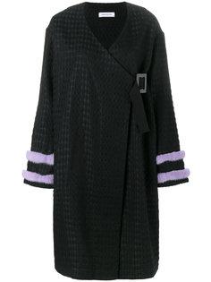 пальто с меховой отделкой Saks Potts