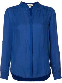 блузка с воротником-стойка Lagence