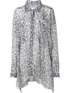 леопардовая рубашка асимметричного кроя Faith Connexion
