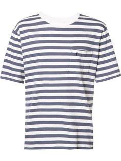 футболка в полоску с логотипом Saint Laurent