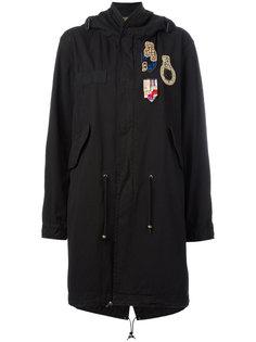 пальто в стиле милитари с заплатками Mr & Mrs Italy
