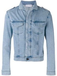 джинсовая куртка с потертой отделкой Gosha Rubchinskiy ГОША РУБЧИНСКИЙ