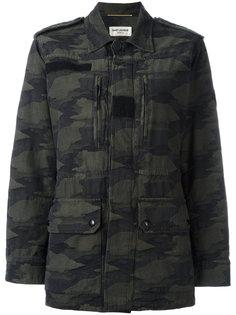 куртка с камуфляжным принтом Saint Laurent