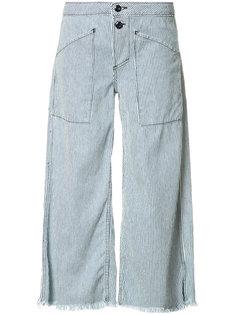 широкие джинсы в полоску NSF