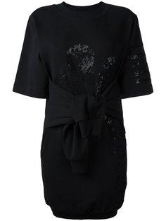 платье-толстовка с узлом спереди Moschino