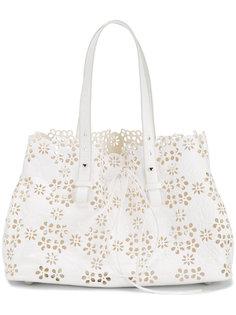 сумка на плечо с цветочной перфорацией Simone Rocha