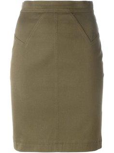мини юбка-карандаш Alaïa Vintage