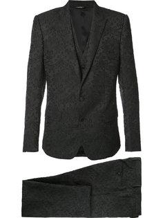 костюм-тройка с цветочной вышивкой Dolce & Gabbana