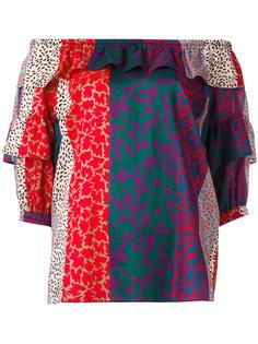 полосатая блузка с открытыми плечами Sonia Rykiel