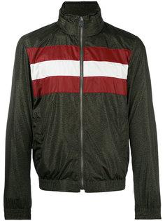 куртка-бомбер с полосатой отделкой Bally