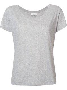 футболка с вырезом-ковш Saint Laurent