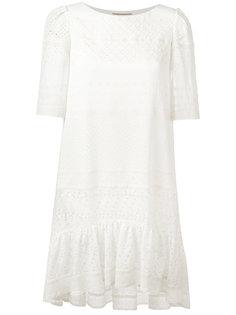 платье с ажурной окантовкой Saint Laurent