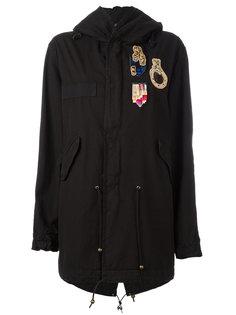 куртка в стиле милитари с заплатками Mr & Mrs Italy