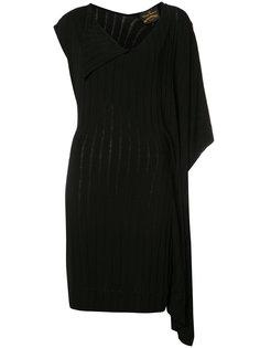 платье с V-образным вырезом и асимметричными рукавами Vivienne Westwood Anglomania