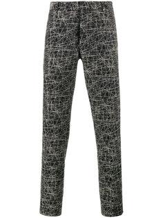 классические брюки с принтом каракуль Dior Homme