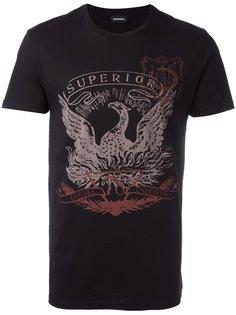 футболка с принтом птицы Diesel