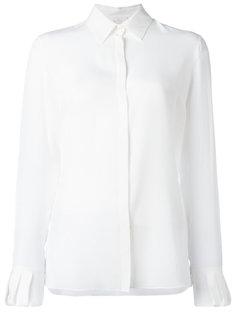 draped cuffs sheer shirt Capucci