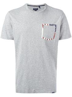 футболка с карманом с принтом Woolrich